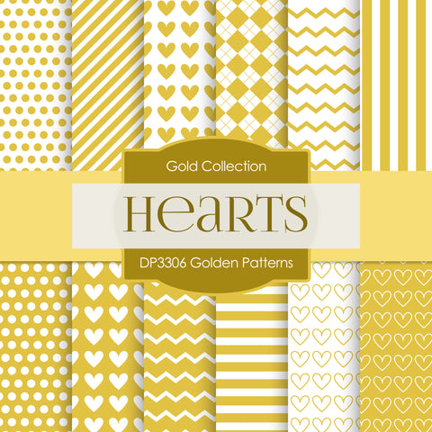 Golden Patterns Digital Paper DP3306