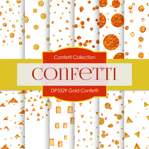 Gold Confetti Digital Paper DP3329
