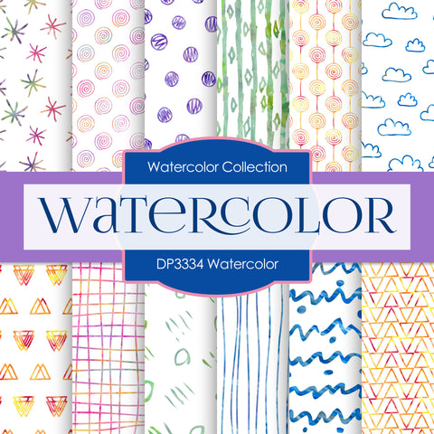 Watercolor Digital Paper DP3334