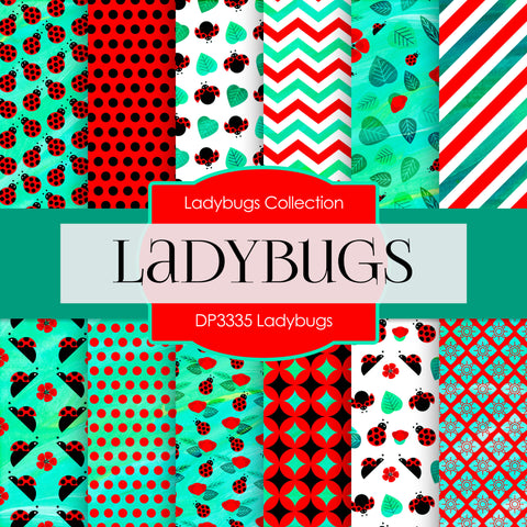 Ladybugs Digital Paper DP3335