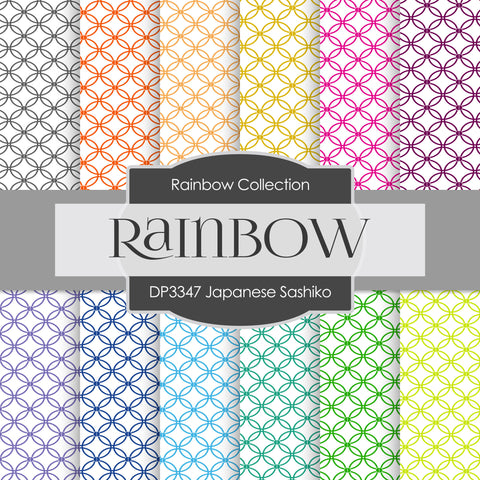 Japanese Sashiko Digital Paper DP3347