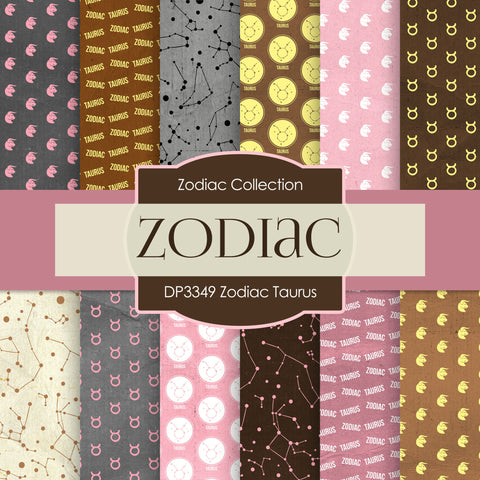 Zodiac Taurus Digital Paper DP3349