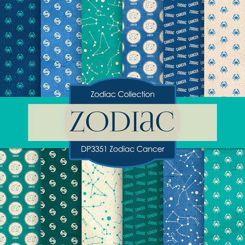 Zodiac Cancer Digital Paper DP3351