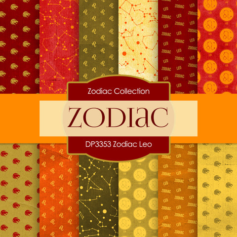 Zodiac Leo Digital Paper DP3353