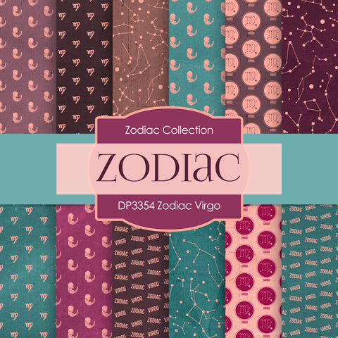 Zodiac Virgo Digital Paper DP3354
