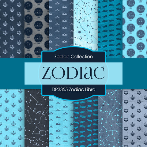 Zodiac Libra Digital Paper DP3355