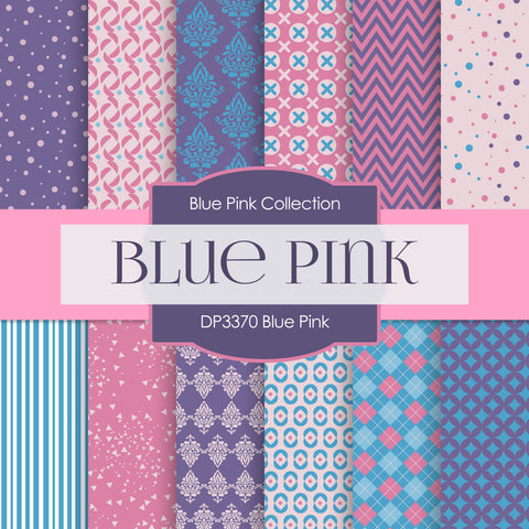 Blue Pink Digital Paper DP3370