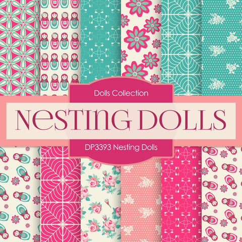 Nesting Dolls Digital Paper DP3393