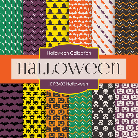 Halloween Digital Paper DP3402
