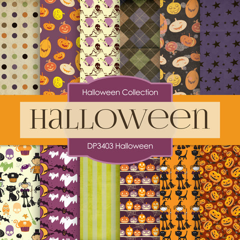 Halloween Digital Paper DP3403