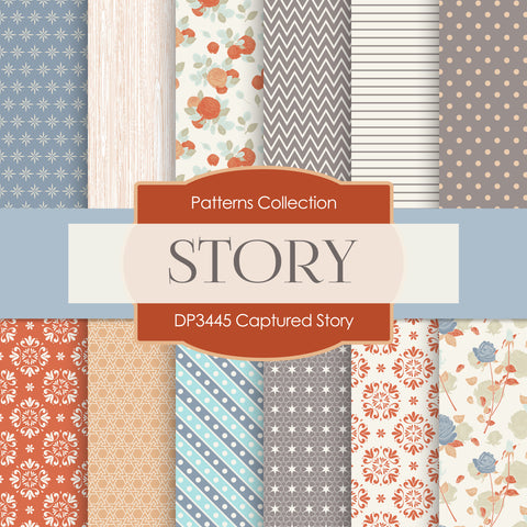 Captured Story Digital Paper DP3445