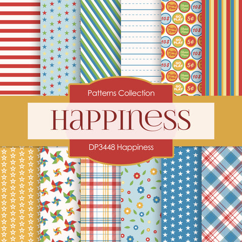 Happiness Digital Paper DP3448