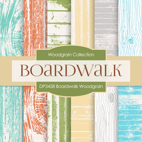Boardwalk Woodgrain Digital Paper DP3458