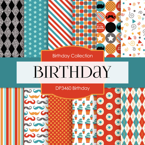 Birthday Digital Paper DP3460