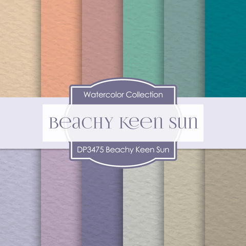 Beachy Keen Sun Digital Paper DP3475