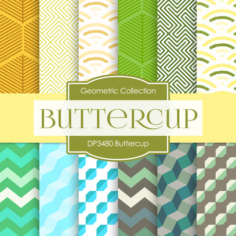 Buttercup Digital Paper DP3480