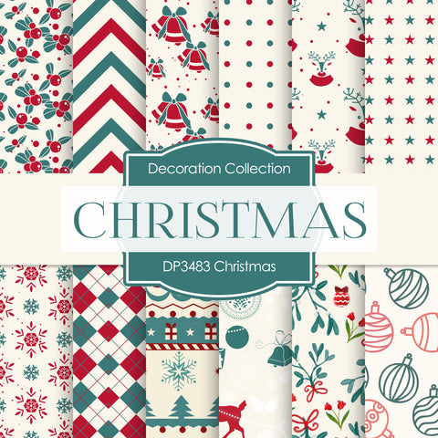 Christmas Digital Paper DP3483