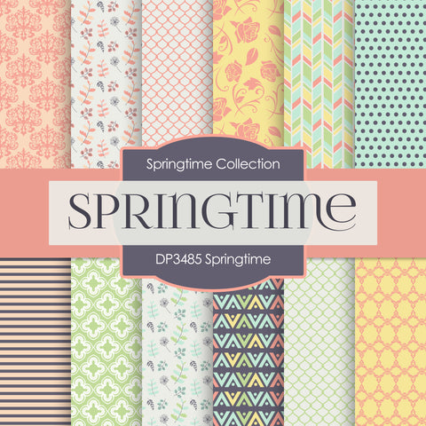 Springtime Digital Paper DP3485A
