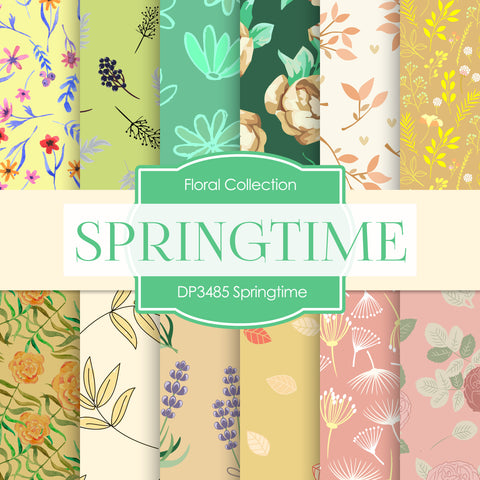 Springtime Digital Paper DP3485