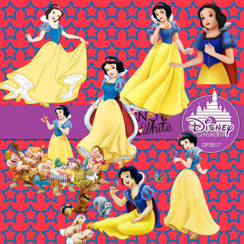 Snow White Digital Paper DP3518 - Digital Paper Shop - 1