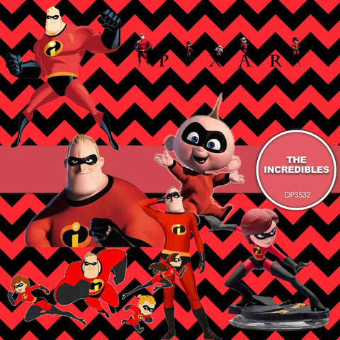 The Incredibles Digital Paper DP3532 - Digital Paper Shop - 1