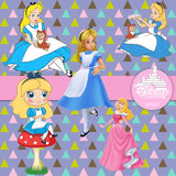 Alice In Wonderland Digital Paper DP3563 - Digital Paper Shop - 5