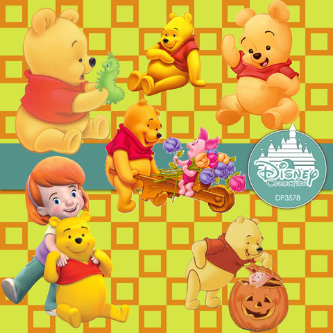 Winnie The Pooh Digital Paper DP3578 - Digital Paper Shop - 1
