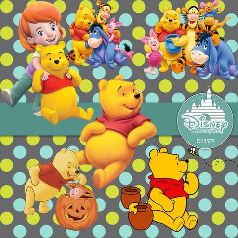 Winnie The Pooh Digital Paper DP3579 - Digital Paper Shop - 1