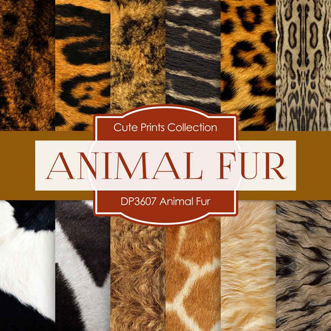 Animal Fur Digital Paper DP3607 - Digital Paper Shop - 1