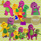Barney The Dinosaur Digital Paper DP3670 - Digital Paper Shop - 3