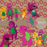 Barney The Dinosaur Digital Paper DP3670 - Digital Paper Shop - 2