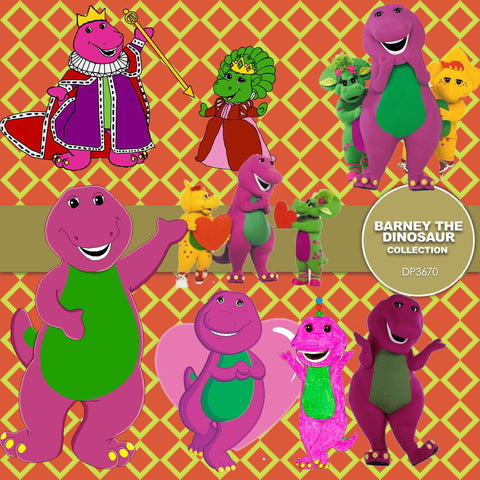 Barney The Dinosaur Digital Paper DP3670 - Digital Paper Shop - 1