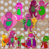 Barney The Dinosaur Digital Paper DP3671 - Digital Paper Shop - 2