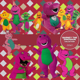 Barney The Dinosaur Digital Paper DP3671 - Digital Paper Shop - 3