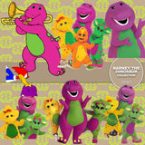 Barney The Dinosaur Digital Paper DP3671 - Digital Paper Shop - 4