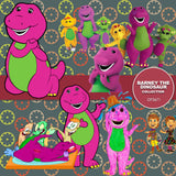 Barney The Dinosaur Digital Paper DP3671 - Digital Paper Shop - 1
