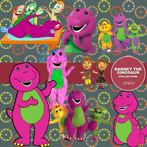 Barney The Dinosaur Digital Paper DP3672 - Digital Paper Shop - 1