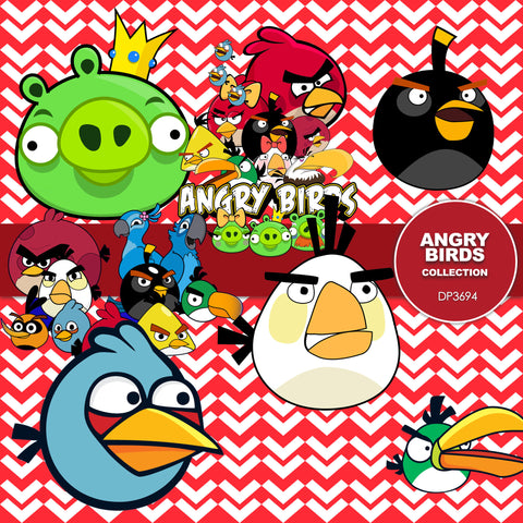 Angry Birds Digital Paper DP3694 - Digital Paper Shop - 1
