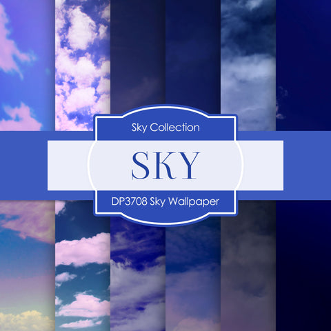 Sky Wallpaper Digital Paper DP3708 - Digital Paper Shop - 1