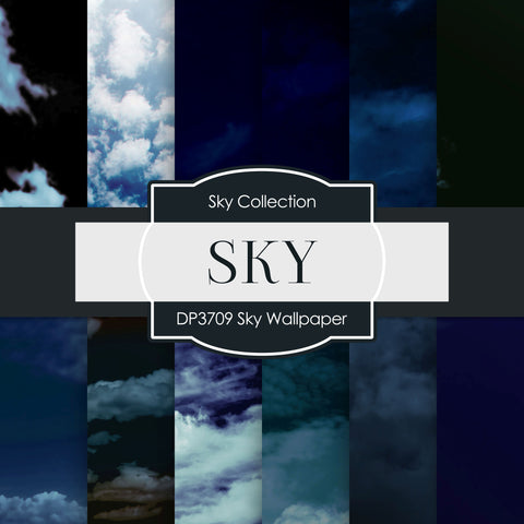 Sky Wallpaper Digital Paper DP3709A - Digital Paper Shop - 1