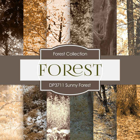 Sunny Forest Digital Paper DP3711A - Digital Paper Shop - 1