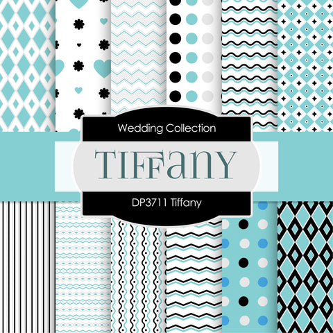 Tiffany Digital Paper DP3711 - Digital Paper Shop - 1