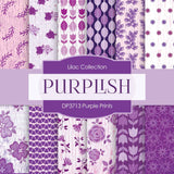 Purple Prints Digital Paper DP3713 - Digital Paper Shop - 1