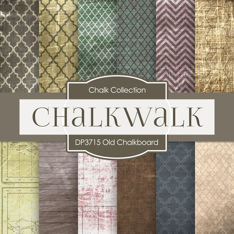 Old Chalkboard Digital Paper DP3715A - Digital Paper Shop - 1
