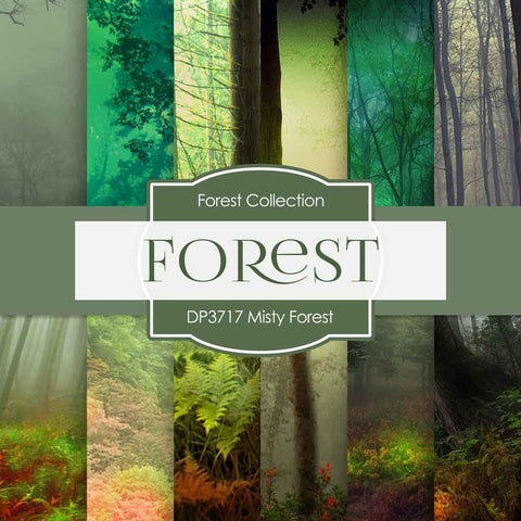 Misty Forest Digital Paper DP3717A - Digital Paper Shop - 1