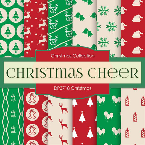 Christmas Digital Paper DP3718 - Digital Paper Shop - 1