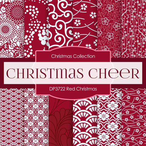 Red Christmas Digital Paper DP3722A - Digital Paper Shop - 1