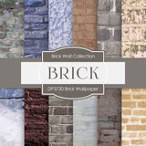 Brick Wallpaper Digital Paper DP3730 - Digital Paper Shop - 1