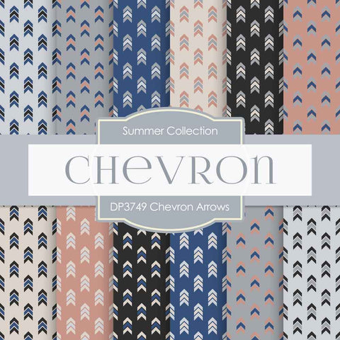 Chevron Arrows Digital Paper DP3749 - Digital Paper Shop - 1