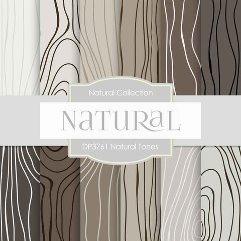 Natural Tones Digital Paper DP3761 - Digital Paper Shop - 1